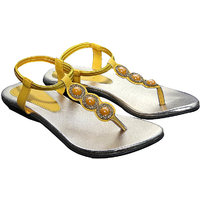 Port 3Nagg Yellow Designer Chappal