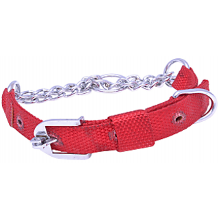 PET CLUB51 HIGH QUALITY  Dog Premium Choke - medium RED