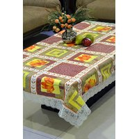 Freely PVC Printed With Grip Backing Dining Table Cover For 6 Seater (153A)
