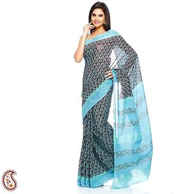 Amafhh Multicolor Raw Silk Embroidered Saree With Blouse