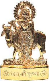Gold Plated Radha Krishna Idol