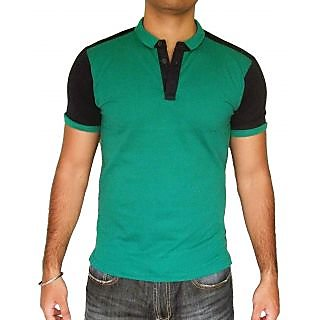 Biggtom Originals Black and Green collar T-Shirt