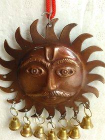 Metal Surya sarva dosh nivaran, Sun for vastu Feng Shui  evil black eye hanging