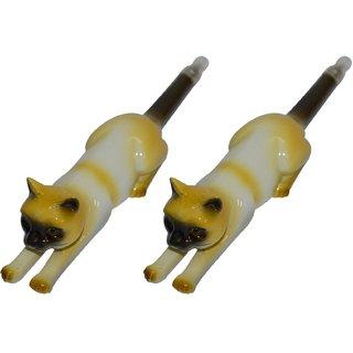 Knott Two Cat shape fancy writing pen Combo