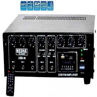MEDHA PROFESSIONAL USB-90-110WATT P.A. POWER AMPLIFIER WITH DIGITAL MEDIA PLAYER