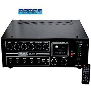 MEDHA DP-1500U- 160 WATT PROFESSIONAL POWER P.A. AMPLIFIER+DIGITAL MEDIA PLAYER