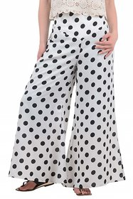 Westchic White with Black Polka Dotted Palazzo