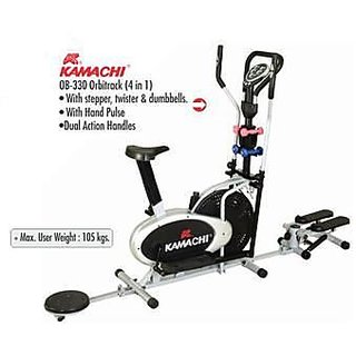 KAMACHI ELLIPTICAL BIKE OB-330 WITH STEPPER TWISTER & DUMBELLS