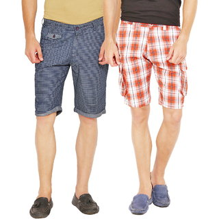 Factorydirect Men's Multicolor Shorts (Set of 2)