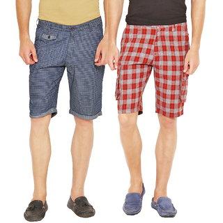 Factorydirect Men's Multicolor Shorts (Set of 2)