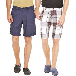 Factorydirect Men's Black Shorts (Set of 2)