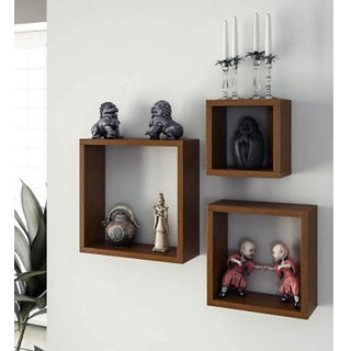Onlineshoppee Home Decor Premium Solid Wood Shelf Rack Wall Bracket