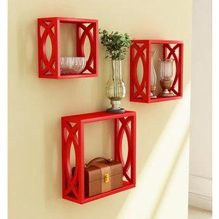 Onlineshoppee Home Decor Premium Solid Wood Shelf Rack Wall Bracket