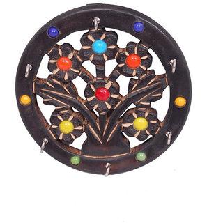 Onlineshoppee Wooden Antique Key Holder Size(LxBxH-18x2x18) Cm