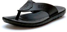 Mens Black Slip on Sandal