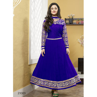 Od'in Paris designed Women's Royal Blue Faux Georgette Designer Salwar Suit