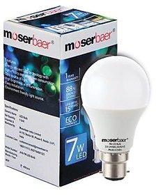 Moserbaer 7w Cool White Led Bulb (pack Of 6 Bulb)