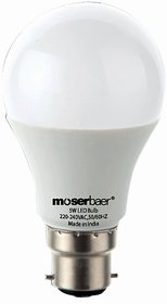 Moserbaer 5W Cool LED Bulb Pin Type Pack of 4