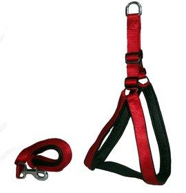 Petshop7 Stylish Dog Harness and Leash Set Red 1.25 Inch - Large