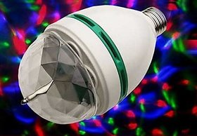 Diwali Colourful Laser Light Disco Party Bulb 360 Rotate 3W( set of 2)