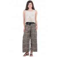 Westchic Womens Printted Palazzo With Belt KWP-003