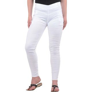 Westchic White Narrow Fit Jeggings For Women