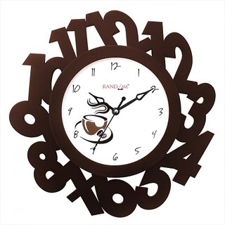 Eco Numbers - Brown Wall Clock