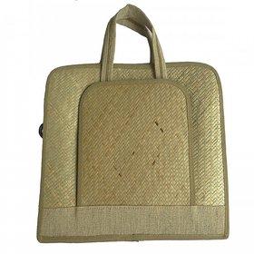 Asom Handicraft office documents Hand bag ( 40.6 cm x 29.5 cm x 11.4 cm, Brown)