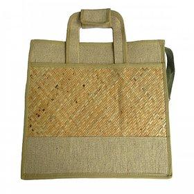 Asom Handicraft Office/Documents Handbag ( 38 cm x 28.5 cm x 12.7 cm, Brown)