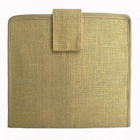 Asom Handicraft Documents Jute File Cover ( 34.3 cm x 24.1 cm x 1.3 cm, Brown)