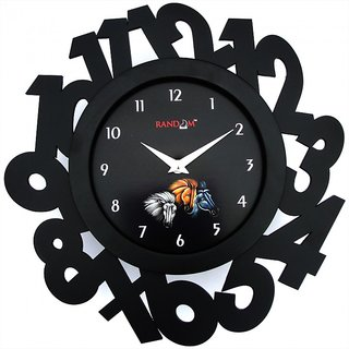 Eco Numbers - Black Wall Clock