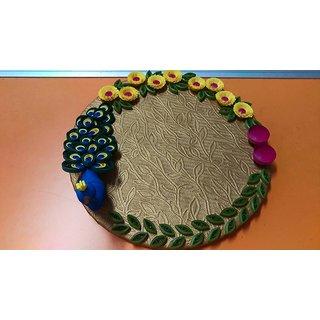 Hand made qualling rakhi plate