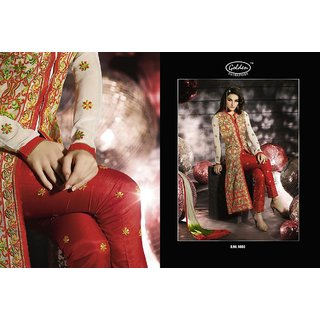 Bollywood style designer straight cut fully worked partywear suit pieces