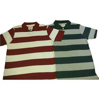 100  Cotton Stripes T-Shirts Combo