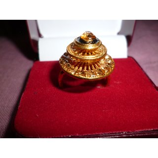 A Gold Plated Very Cute Ring For Her In Three Layer