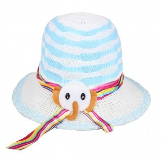 Kids White  Sun Hat For  Unisex Kids JSMFHKDCP0086