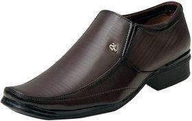 Oora Men's Brown Formal Slip On Shoes