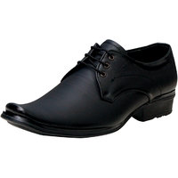 00RA Black With Fine Lining Design Lace Up Formal Shoes