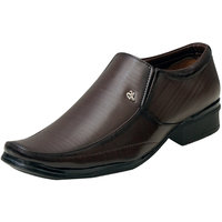 00RA Brown Stylish With Fine Lining Design Slip On Form