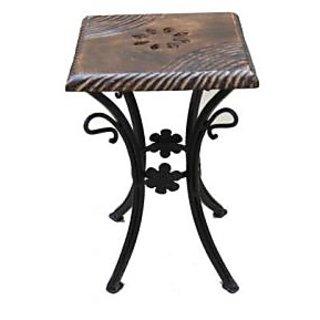 khan handicrafts Wooden & Wrought Iron stool