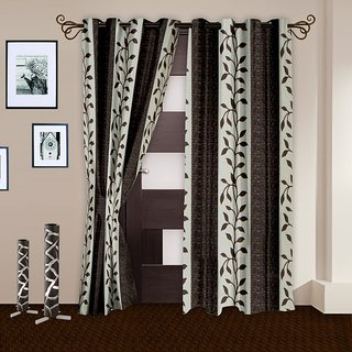 Story@Homecoffee Polyster Door Curtain Nature 2 Pc Door Curtain DNR-3016