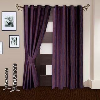 Story@Homepurple Polyster Door Curtain Nature 2 Pc Door Curtain Dnr3024