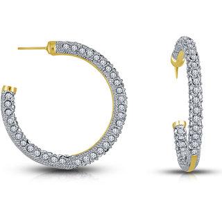 Hops Austrian Diamond Gold Plated Earring Set for Women by Shriya