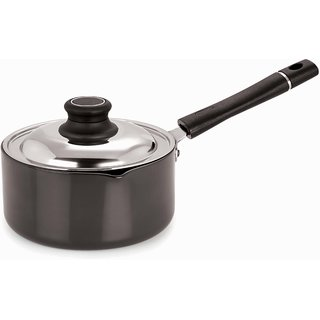 Pristine Hard Anodised Sauce Pan with Lid, 2.5 Ltr.