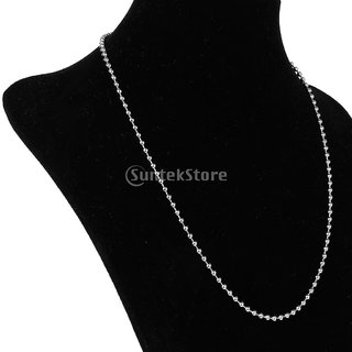 Stainless Steel Ball Beads Chains Necklace 21 Inch