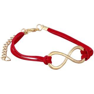 Aaishwarya Funky Red Infinity Wrap Bracelet