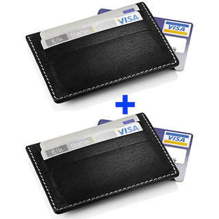 Genuine Leather Credit Card Holder.  Pack Of  Two