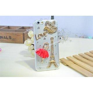 3D Diamond Crystal Hard PC Case Cover iPhone 6 Red ballerina Eiffel Tower