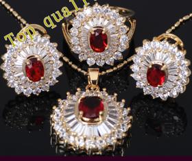 American Diamond  Pendant,earring and ring set