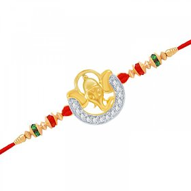 VK Jewels Ekdant Gold and Rhodium Plated Rakhi